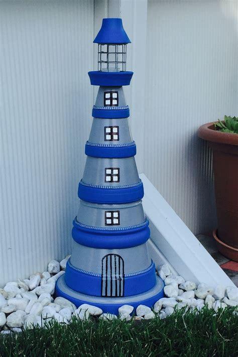 leuchtturm selbstgemacht f 252 r den garten mer flower pot