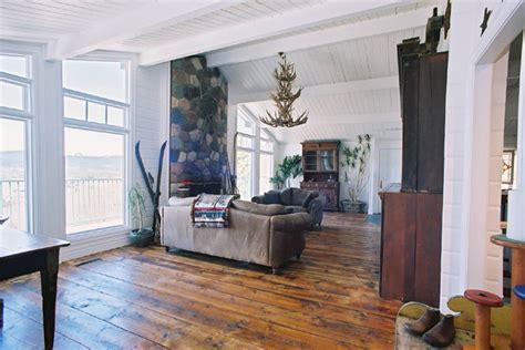 Antique Wood Flooring   Rustic   Living Room   Calgary