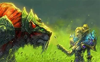 Elf Warcraft Tiger Tigers Armor Grass Wow