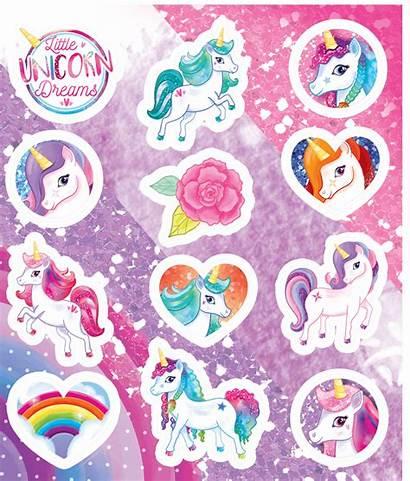 Unicorn Sticker Sheet Stickers Toys