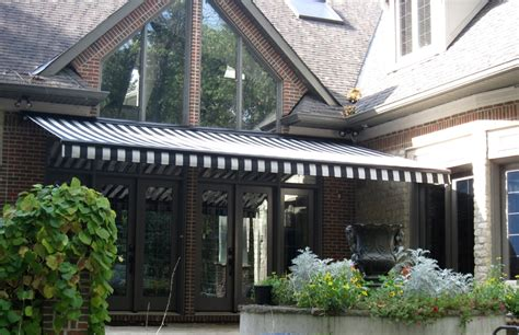 black  grey retractable awning rolltec retractable