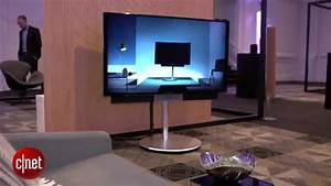 Bang And Olufsen Beovision Avant Provides Motorised Stand