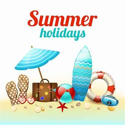Holidays Summer Poster Background Vector Clipart Beach