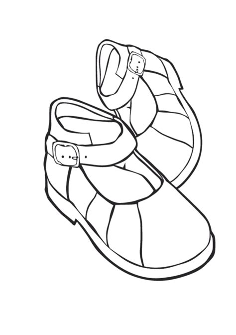 Coloring Drawing by Clipart Shoes To Color 20 Free Cliparts Images