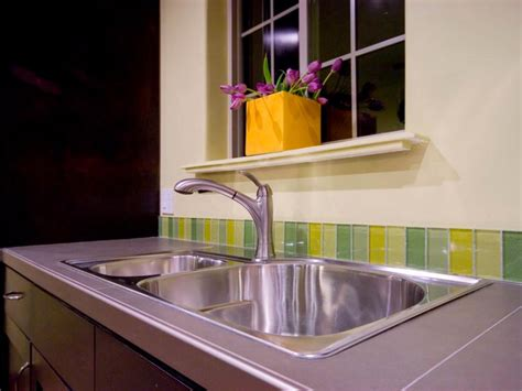 backsplash ideas for kitchens inexpensive cheap versus steep kitchen backsplashes hgtv 7566