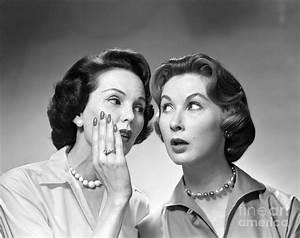 Two Women Gossiping, C 1950-60s Photograph by Debrocke