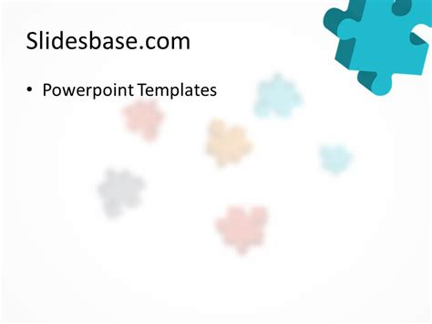 colorful puzzle powerpoint template slidesbase