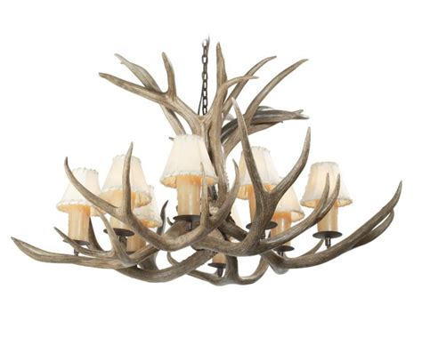 8 light mule deer antler chandelier uvsis113