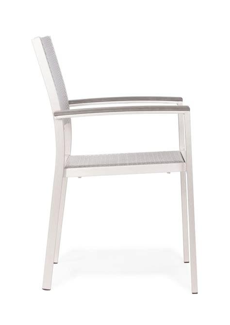 metropolitan dining arm chair brushed aluminum