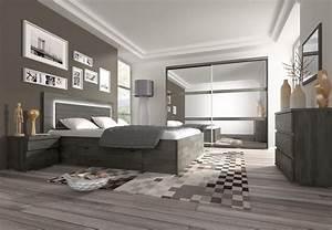 Chambre Complete Adulte : chambre adulte contemporaine ch ne noir elys chambre ~ Carolinahurricanesstore.com Idées de Décoration