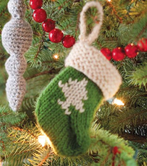 knitted stocking ornament   cute