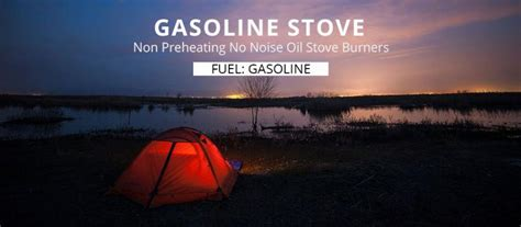 apg camping gasoline stove  preheating  noise oil stove burners outdoor cookware