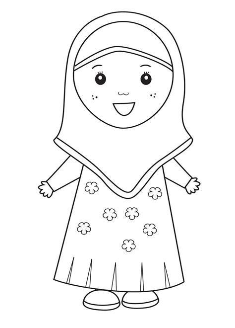 Mewarnai Gambar Kartun Anak Muslimah Hijabfest