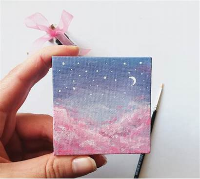 Painting Canvas Paintings Dream Acrylics Easy Aesthetic