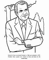 Coloring Nixon Richard Facts President Presidents Printable Printables Reconciliation Patriotic Printing Usa Presidential 37th Activities History States United sketch template