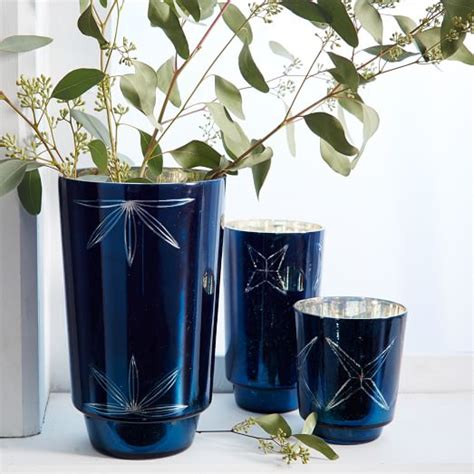 mercury glass hurricane vase mercury cut glass hurricanes vases west elm