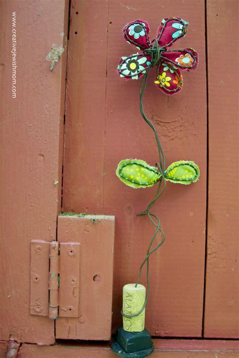 rustic wire  fabric flower craft creative jewish mom