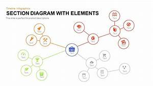 Cluster Diagram Connection Powerpoint And Keynote Template