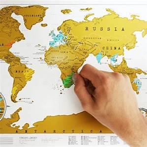 Carte Du Monde à Gratter Maison Du Monde : carte du monde gratter format de voyage ~ Teatrodelosmanantiales.com Idées de Décoration