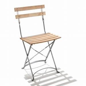 Chaise Jardin Bois : chaise pliante de jardin en acier et bois square doublet ~ Teatrodelosmanantiales.com Idées de Décoration