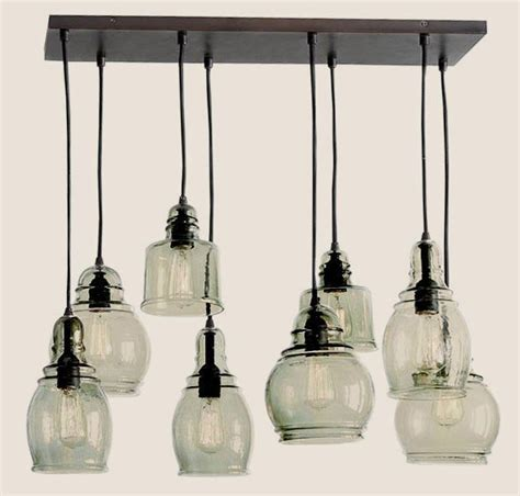 pottery barn paxton glass  light pendant chandelier