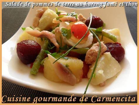 cuisiner le hareng recette salade de pommes de terre au hareng fumé 750g