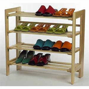 Winsome, Natural, 4, -, Tier, Shoe, Rack