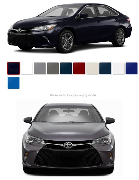 toyota camry colors 2016 toyota camry color options miller toyota reviews