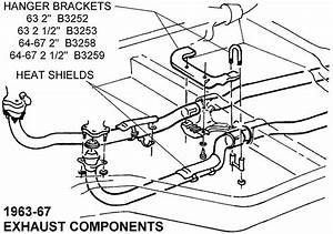 1963-67 Exhaust Components - Diagram View
