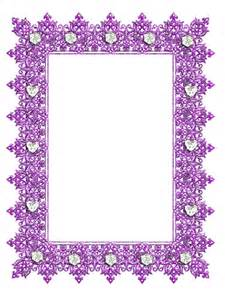 Transparent Frames and Borders Purple