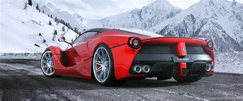 ferrari laferrari hre wheels landscape road mountains cars