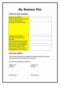 business plan template by flaink teaching resources tes With startupdaddy business plan template