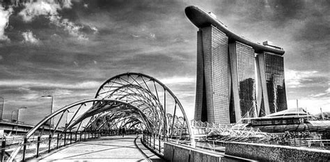 black  white photography city singapore  optic