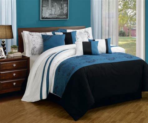blue and black comforter black white and blue bedding sets sweetest slumber