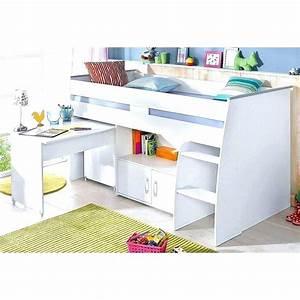 Lit Mezzanine 2 Places Avec Bureau : fantastique lit mezzanine avec bureau integre lit ~ Melissatoandfro.com Idées de Décoration