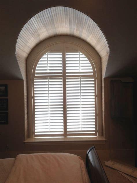 arched plantation shutters   louver shop   bedroom window