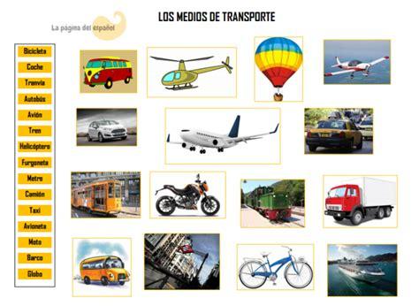 Los Medios De Transporte  La Página Del Español