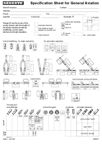 Specification Sheets - schroth.com | SCHROTH Safety Products