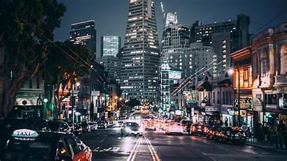 Lights Street Night San Francisco Background Wallpapers