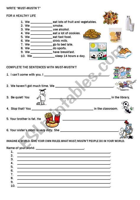 worksheets must mustn 180 t
