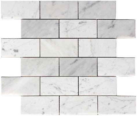 carrara marble mosaic tile 8 50sf carrara bianco 2x4 quot polished marble mosaic