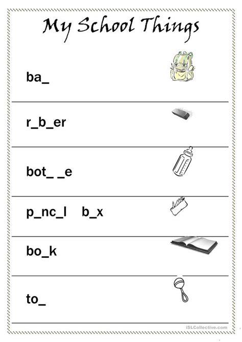 my school things worksheet free esl printable worksheets