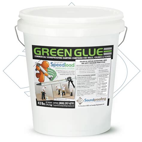 mass loaded vinyl green glue soundproofing walls ceiling and floors