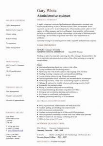 Administration cv template free administrative cvs for Admin resume template