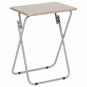 Petite Table Pliante : table d 39 appoint pliante 70cm beige ~ Teatrodelosmanantiales.com Idées de Décoration