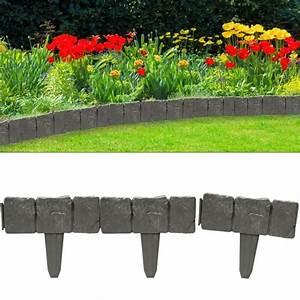 Set de 10 bordures ardoise delimitation jardin pelouse for Delimitation jardin