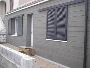 les 25 meilleures idees de la categorie bardage gris sur With maison peinte en gris