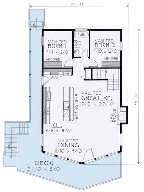 Wide Open Lakefront Home Plan   14001DT   1st Floor Master