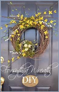 Forsythia, Wreath, Diy