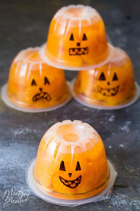 jack  lantern fruit cups